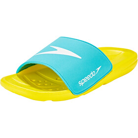 speedo Atami Core Slides Kids empire yellow/bali blue